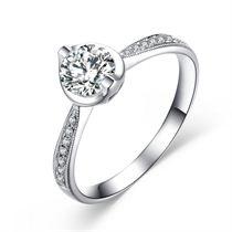 【可欣】 白18K金 钻石女士戒指