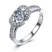 【心花怒放】 白18K金 钻石女士戒指