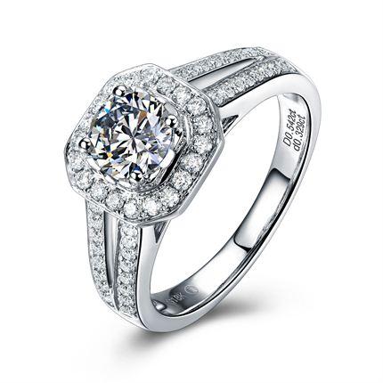 【爱之桂冠】 白18K金 钻石女士戒指