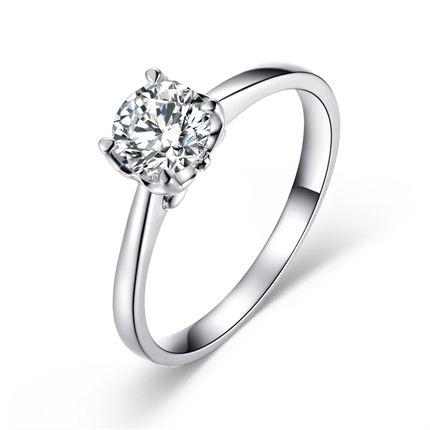 【爱的城堡】 白18K金钻石女士戒指