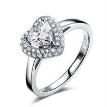 【璀璨心】 白18K金 钻石女士戒指