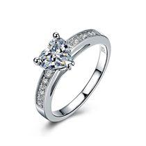 【因爱之名】 白18K金 钻石女士戒指