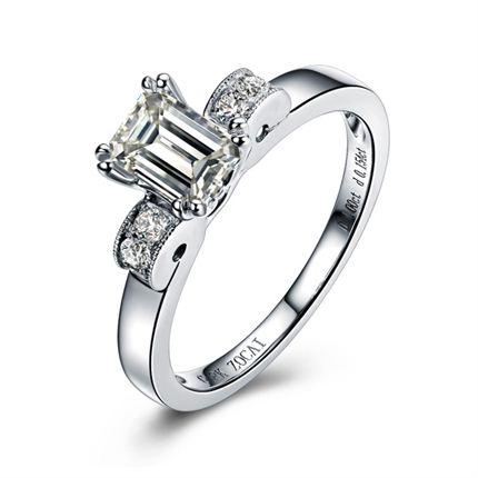 【万种风情】 白18K金钻石女士戒指