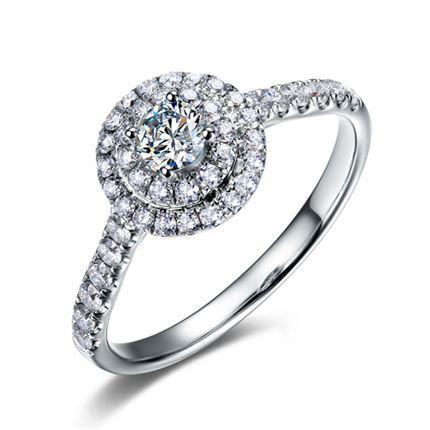 【星空】 白18K金钻石女士戒指