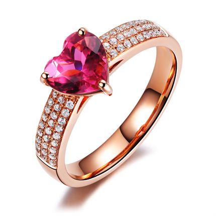 【心动】 玫瑰金女士戒指