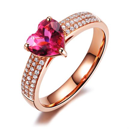 【心動】 玫瑰金女士戒指