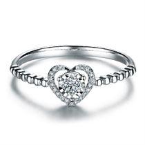【心悦】 白18K金4分/0.04克拉钻石女士戒指