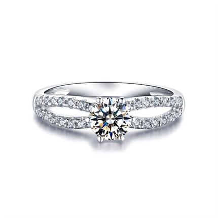 【冰与火】剧中同款 白18K金钻石女士戒指