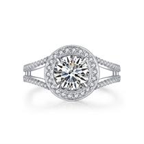 【永恒摩天轮】 白18K金钻石女款戒指