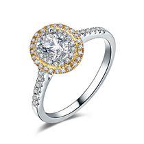 【光芒】 白18K金 钻石女士戒指