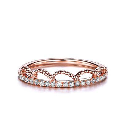 【皇冠】系列 玫瑰金女士戒指
