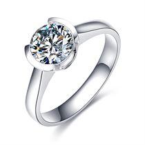 【铭刻之吻】系列 白18K金钻石女士戒指