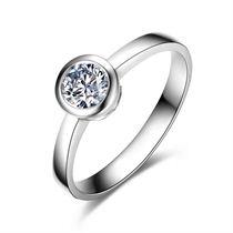 【圆点】 白18K金钻石女士戒指
