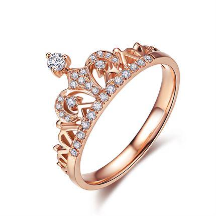 【皇冠系列】 玫瑰金女士戒指