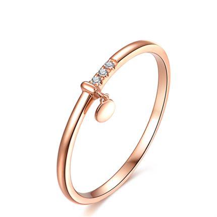 【听心】系列 玫瑰18K金钻石戒指个性时尚潮流钻戒