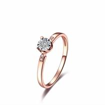【小美好】系列 玫瑰18K金钻石女戒指