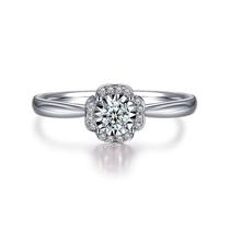 【捧花】系列 白18K金群镶钻戒求婚钻石戒指