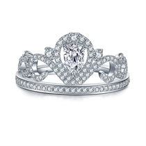 【皇冠】系列 皇冠钻石戒指群镶钻戒求婚戒指