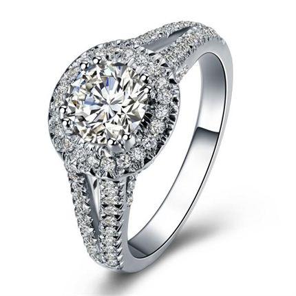 【LVOE ME】 白18K金 钻石密斯戒指