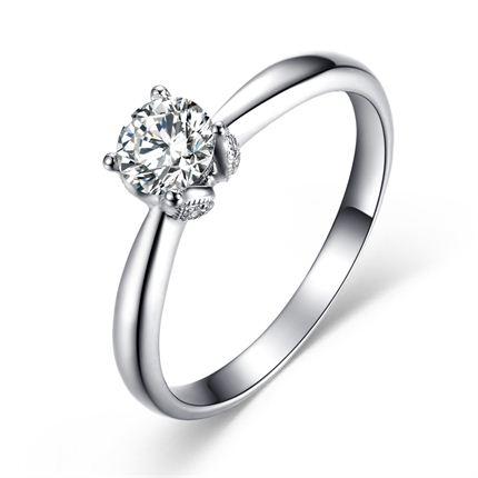 【初夏】 白18K金 钻石女士戒指