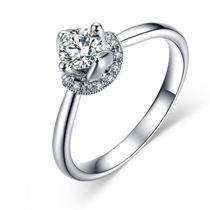 【雅蕊】 白18K金 钻石女士戒指
