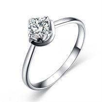 【映寒】 白18K金 钻石女士戒指