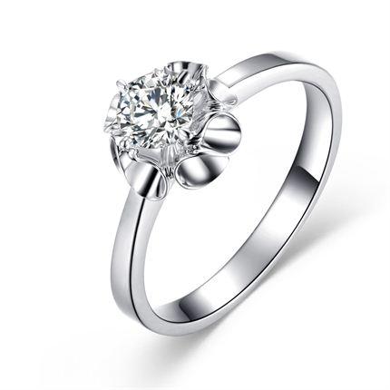 【慕晴】 白18K金 钻石女士戒指