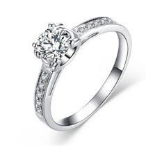 【秋蝶】 白18K金 钻石女士戒指