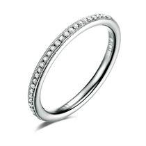 【轮回】 白18K金钻石时尚女款戒指