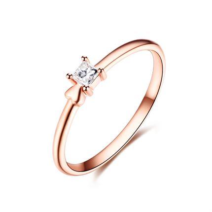 【心睛】 玫瑰18k金钻石戒指
