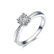 【嫣然】 白18K金 钻石女士戒指