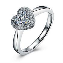 【爱的传递】 白18K金 钻石女士戒指