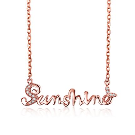 【sunshine】 玫瑰18k金钻石项链牌