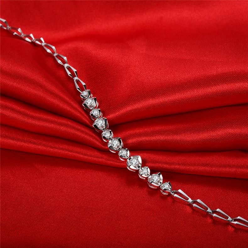 18k白金钻石手链多少钱