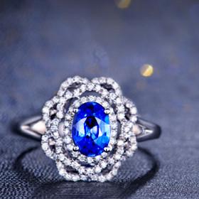 蓝宝石钻石戒指一般多少钱