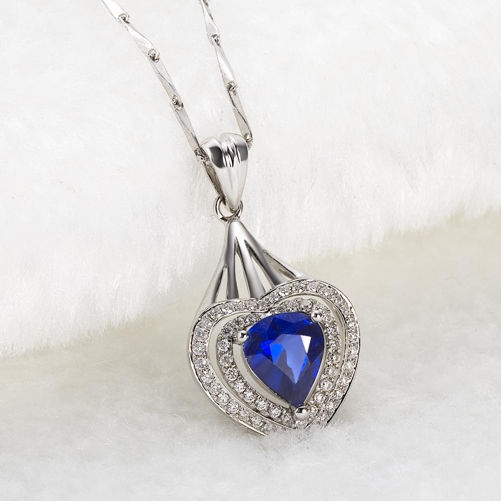 佩戴心形蓝宝石项链有什么寓意