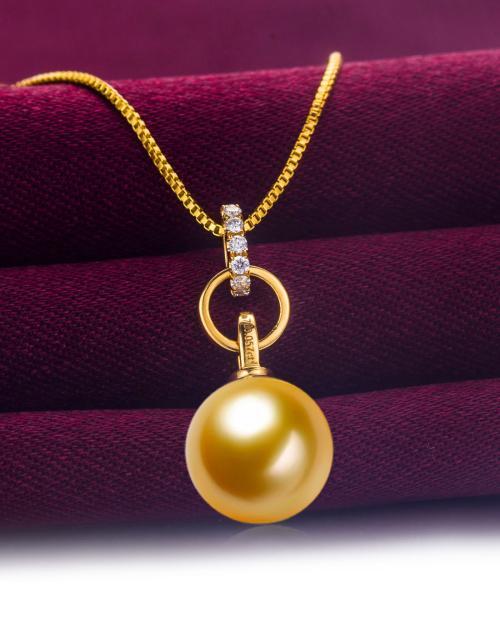 金色珍珠吊坠是否值得购买
