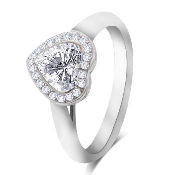 心型钻石戒指心心相印