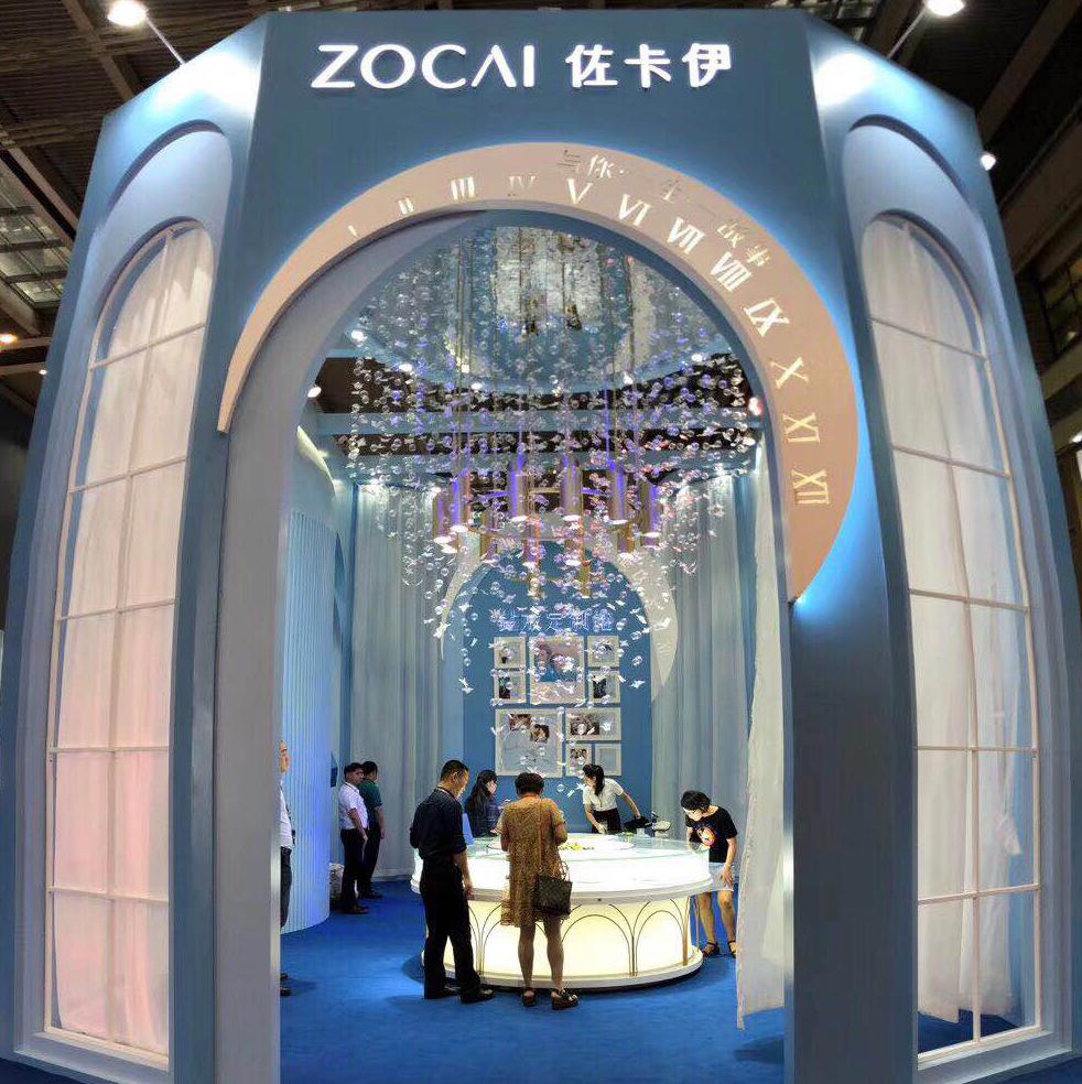 2018深圳国际珠宝展,佐卡伊钻石信物馆抢眼成吸睛头条