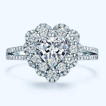 心形钻石戒指款式有哪些?心形钻戒多少钱一枚?