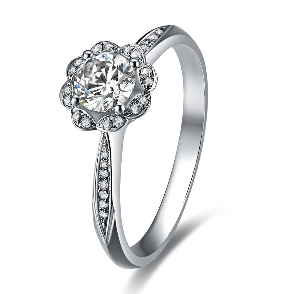 》》点击进入【莲花】 白18k金35分/0.35克拉钻石戒指