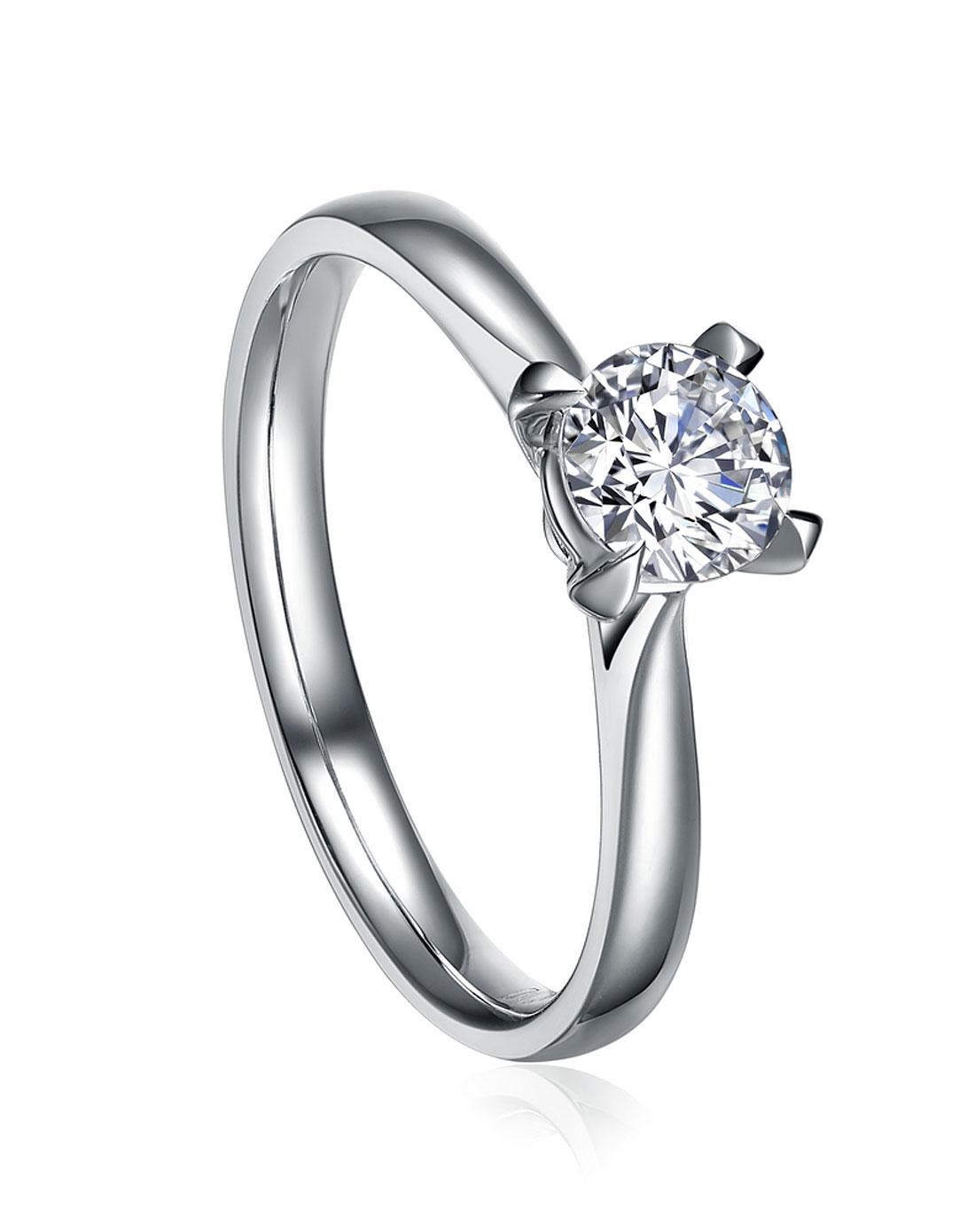 》》点击进入【连心柱】 白18K金52分/0.52克拉钻石女士戒指