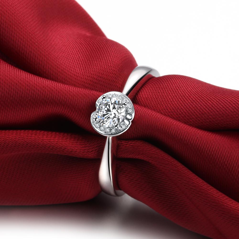 【比翼】 白18k金31分/0.31克拉钻石戒指