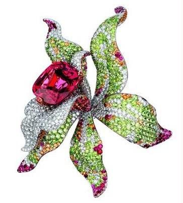 看!那些点缀在珠宝上花朵