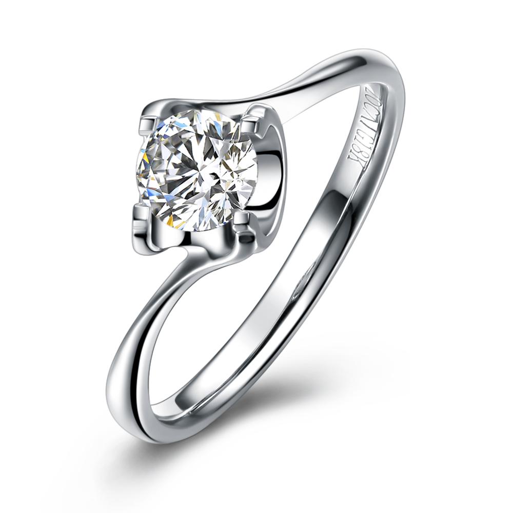 》》点击进入【闪耀时光】 白18K金女士钻石戒指