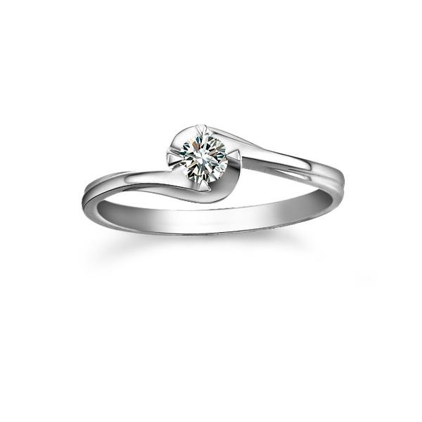 》》点击进入【暖色】 0.12克拉白18K钻石女士戒指