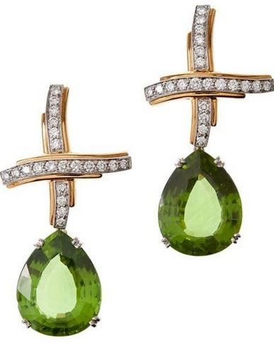 橄榄绿珠宝首饰一