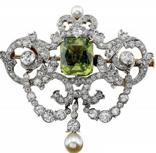 橄榄绿珠宝首饰三