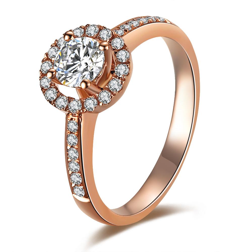 【情深似海】 50分玫瑰金钻石戒指