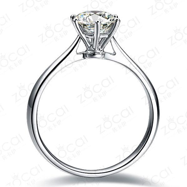 》》点击进入【挚爱】 白18k金0.3克拉钻石戒指